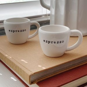 Set of Pottery Barn Outlet White Espresso Cups